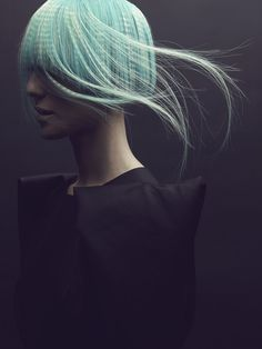 I+D+i on the Behance Network #model #rebel #hair #photography #blue
