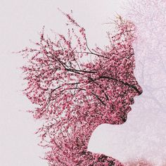 Double Exposure Portraits by Sara K Byrne #art #photography #digital #exposure #double