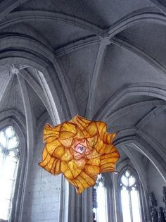 Ethereal Paper Sculptures Float Inside a Church - My Modern Metropolis #sculpture #art
