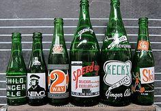 Three Potato Four - Green Glass Soda Bottles