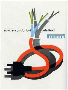 Bonini - Pirelli cables, 1957 | Flickr - Photo Sharing! #pirelli #print #advertising #italian #vintage #poster #50s