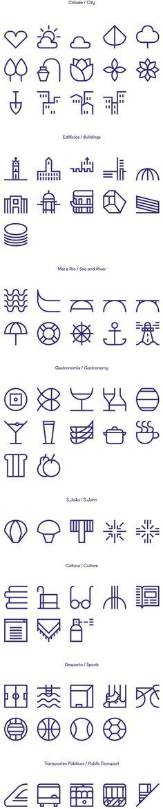 New identity for the city of Porto on Behance #icons #symbols #iconography