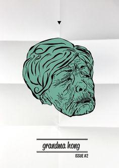 grandma hong on the Behance Network #old #grandma #asian #illustration #poster #face