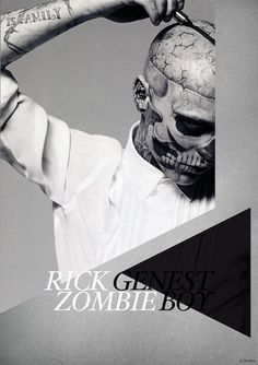 Rick Genest on the Behance Network #print #genest #poster #rick