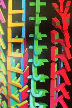 AIGA poster Varsity Crime Wave #illusion #design #color #poster #3d
