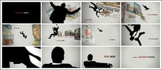 Mad Men opening title sequence | Art of the Title #50s #office #falling #advertising #men #silhouette #mad
