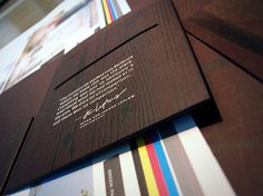Bellevue Towers Toolkit #debossed #leave #wood #brochure #behind #folder