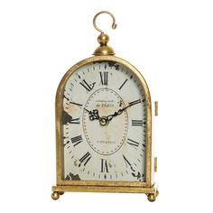 Sargood Gold Arched Mantle Clock