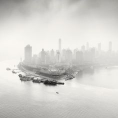 city of fog12 #city #photography #blackwhite #fog