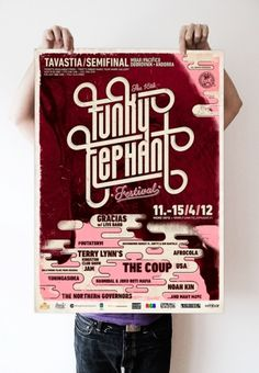 The 18th Funky Elephant Festival Identity | Aleksi Ahjopalo #poster #music #festival #funk #funky elephant