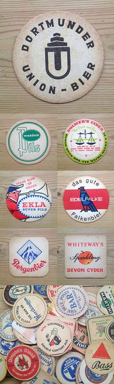 Coasters #illustration #vintage #coaster