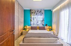 Freshness, joy and color interior design by Elina Dasira - www.homeworlddesign. com (6) #apartments #bedroom #design