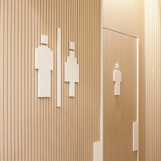 Wayfinding | Signage | Sign | Design | toilet 极简线条公共卫生间区域指示牌