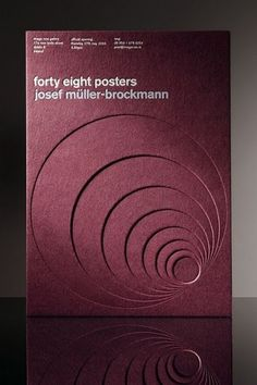 GDS 108 Design and Media Principles: fourty eight posters josef muller-brockman