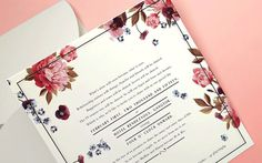 #Wedding #invite #floral