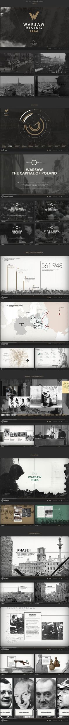 Warsaw Rising on Behance #white #design #black #layout #web