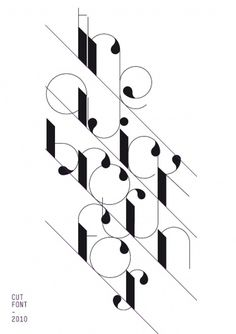 Cut Font on the Behance Network #type #poster #white #black #editorial #font #cut #ozone