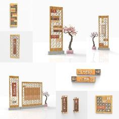 Resort | Wayfinding | Signage | Sign | Design 窗户型设计木纹镂空中式南乌度假村
