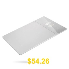 Qi-enabled #Standard #Devices #Wireless #Charging #Mouse #Pad #- #SILVER