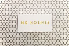 Side of the Box for baked goods at Mr Holmes Bakehouse #white #packaging #design #box #food #type #foil