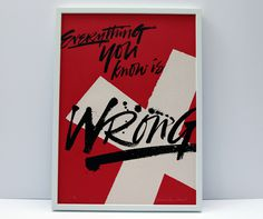 Poster from Alison Carmichael #print #wrong #poster