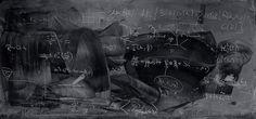 Physicist Blackboard #blackboard #chalk