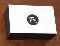 personal branding - Tim Boelaars #lettering #business #branding #card #print #minimal