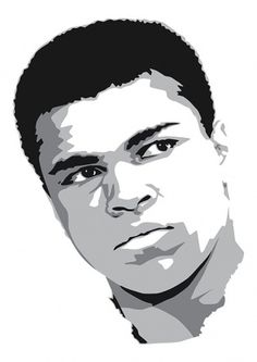 Cassius Clay #vector #muhammad #clay #illustration #portrait #art #cassius #ali