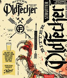 Bitter Old Fecker Beer Bottles #beer #bottle #label #packaging