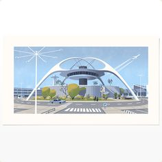 Image of LAX Theme Building (screenprint) #screen #illustration #print