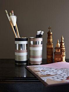 Decoration - Jenni Juurinen #accesories #wooden #sculptures #workspace #brushes #decoration