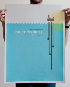Justin LaFontaine #gigposter #built to spill