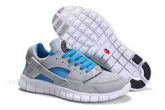 ens Nike Huarache Free 2012 StealthWhite-Neptune Blue Shoes