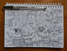 Sketch | Flickr - Photo Sharing! #doodle #draw #sketching #paper #pen #pencil #drawing #sketch