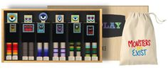 chalk board monsters play set #monsters #wood #toys #once-kids