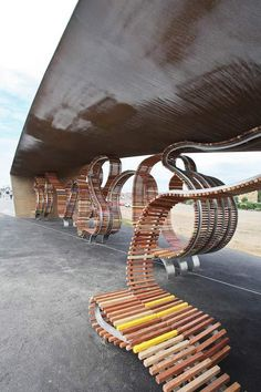 The Longest Bench by Studio Weave #furniture