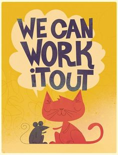 All sizes | We Can Work it Out | Flickr - Photo Sharing! #design #illustration #cat #mouse #kitty