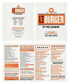 LTÂ Burger - TheDieline.com - Package Design Blog #menu #identity