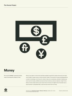 The Human Project Poster (Money) #inspiration #creative #information #pictogram #collection #design #graphic #human #grid #system #poster #typography