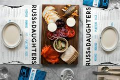 Russ & Daughters #branding #type #restaurant #blue
