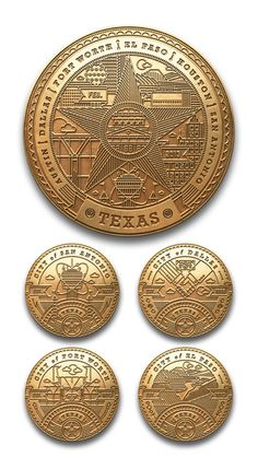 kendrick kidd #badges #illustration #coins