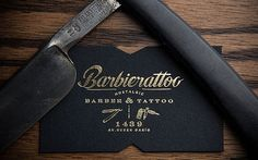Fantastic branding for a Barber/Tattoo Shop