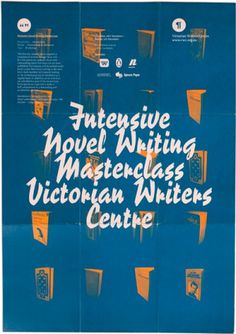 Victorian Writers Centre on the Behance Network #design #graphic #stroke #brush #typography