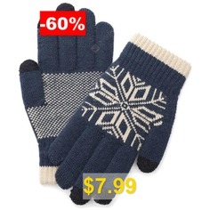 Knitted #Wool #Touch #Screen #Gloves #for #Men #- #LAPIS #BLUE
