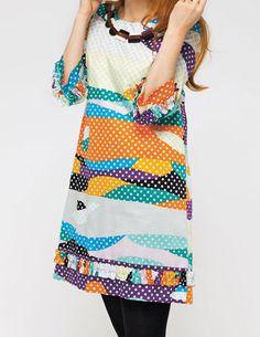 Likes | Tumblr #pattern #girl #print #design #dots #fashion #dress