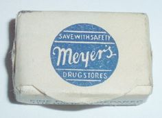 Typography / MEYERS DRUG STORES by ussiwojima, via Flickr #font #design #soap #vintage #and