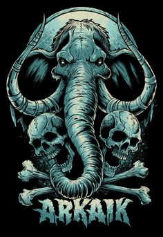 Miscellaneous Tee Designs Vol.2 on the Behance Network #elephant #illustration #metal #dark #heavy