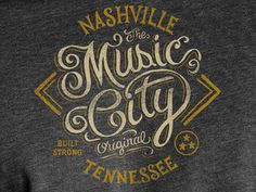Music City- Tee Design #lettering #tshirt