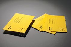 Matthew Hole #typography #branding #identity #business card #yellow #brand #lines #holes #rules #die cut #personal #stationery