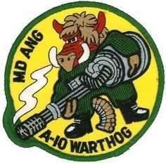 MD ANG A-10 WARTHOG PATCH #patch #army #warthog #a-10